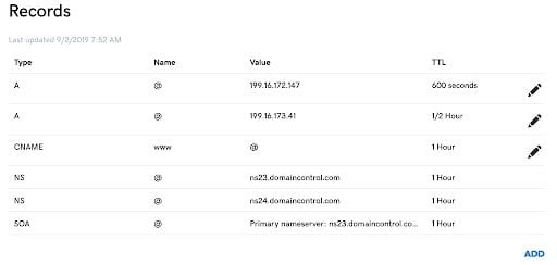 This is what your dns records should look like.