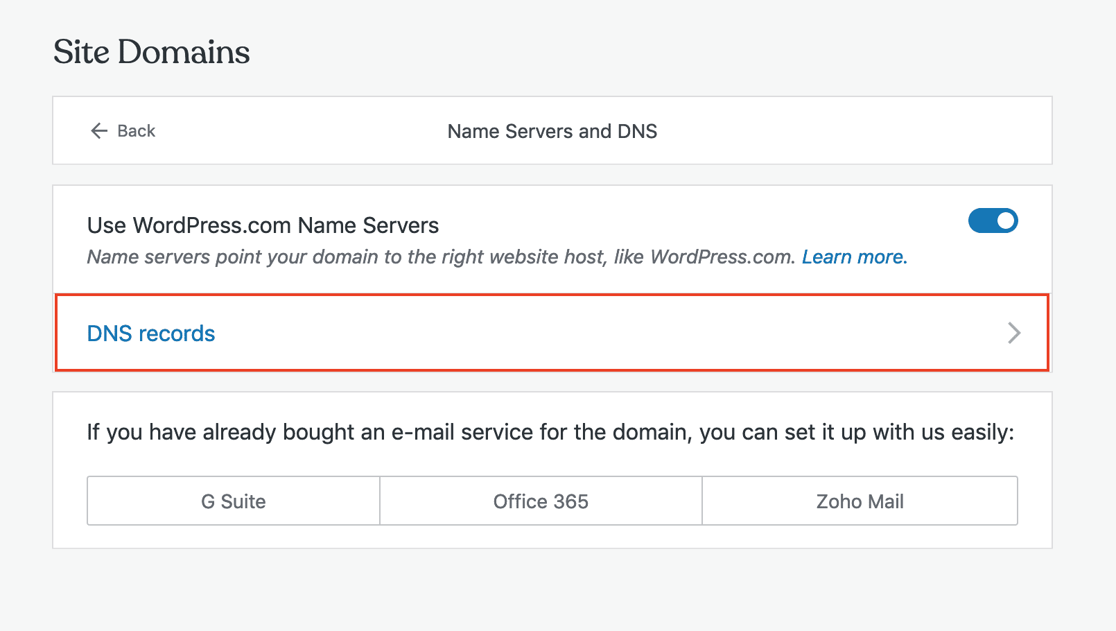 Name server and DNS settings in Pressable.